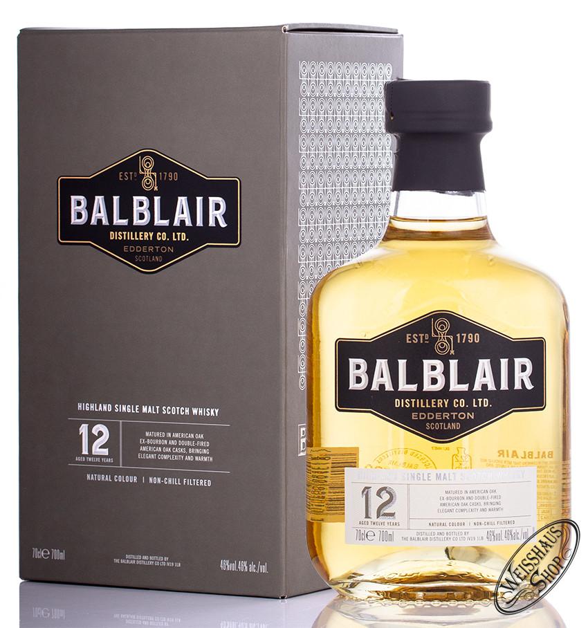 Balblair 12 YO Highland Single Malt Whisky 46% vol. 0,70l