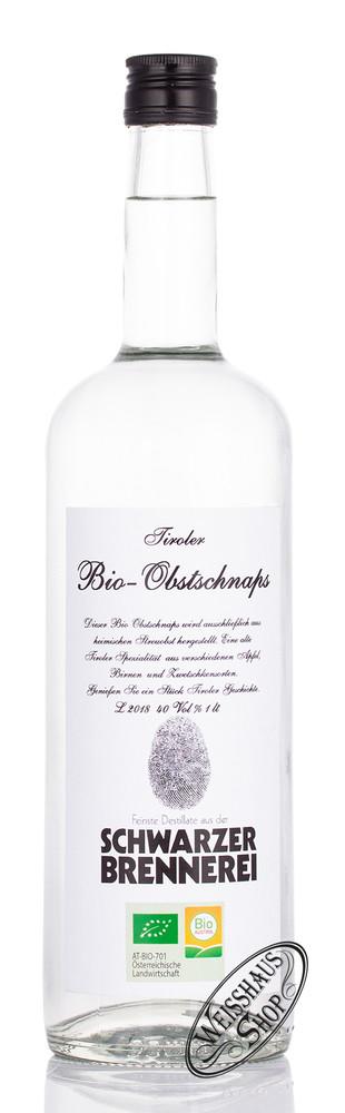 Schwarzer Bio Obst Schnaps 40% vol. 1,0l
