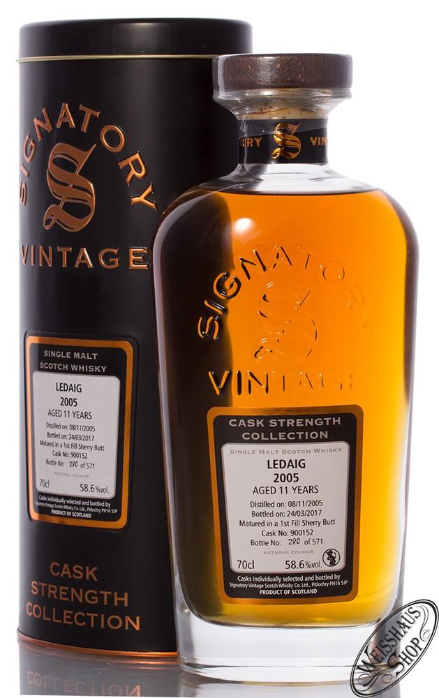 Tobermory Ledaig Vintage 2005 Signatory Whisky 58,6% vol. 0,70l