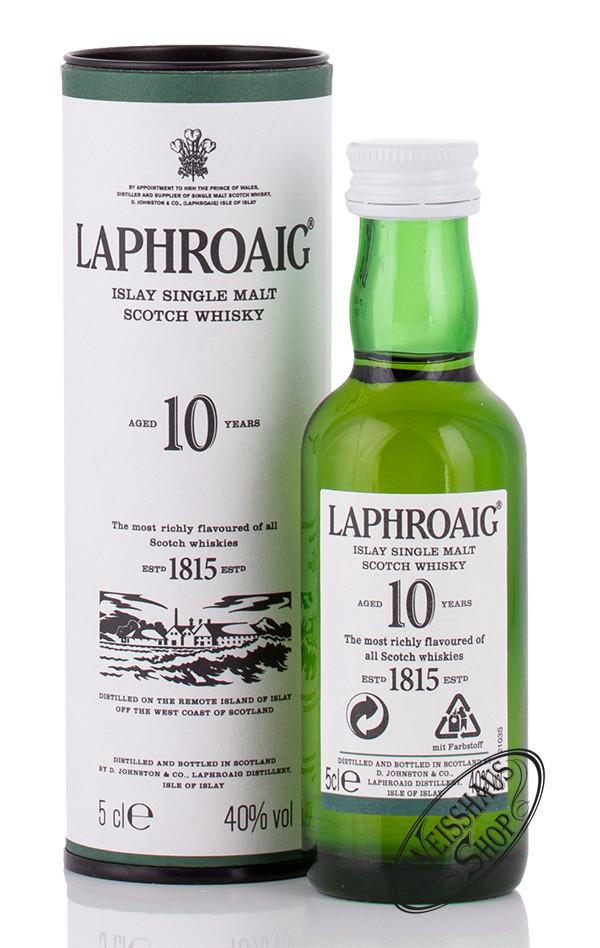Laphroaig 10 YO Whisky 40% vol. 0,05l Miniatur