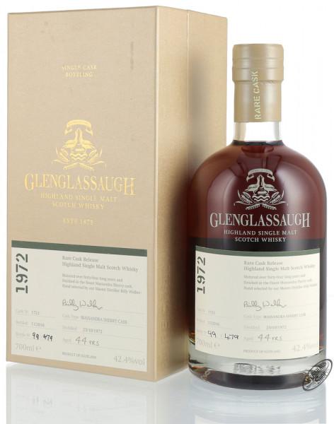 Glenglassaugh Vintage 1972 Sherry Cask Finished Whisky 42,4% vol. 0,70l