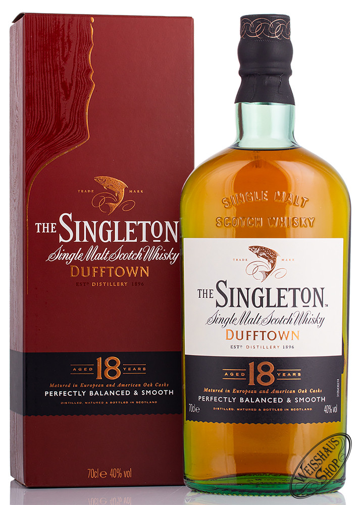 Singleton of Dufftown 18 YO Whisky 40% vol. 0,70l