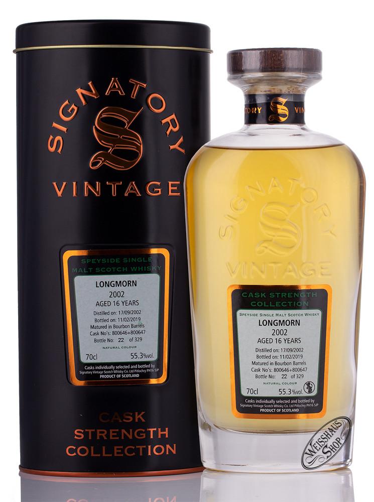 Longmorn Vintage 2002 Signatory Whisky 55,3% vol. 0,70l