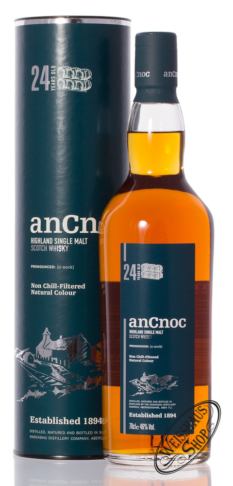 AnCnoc 24 YO Whisky 46% vol. 0,70l