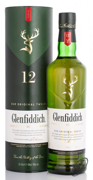 Glenfiddich 12 Years Old Single Malt Whisky 40% vol. 0,70l