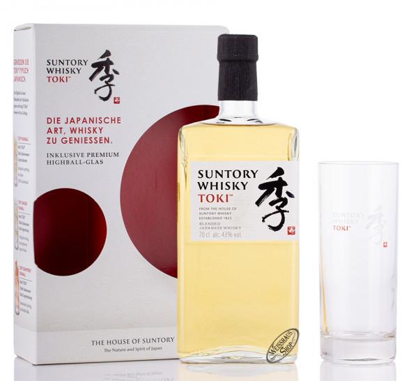 Suntory Toki Japanese Whisky Geschenk-Set 43% vol. 0,70l