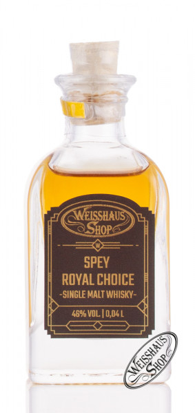 Spey Royal Choice Single Malt Whisky 46% vol. 0,04l Weisshaus Sample