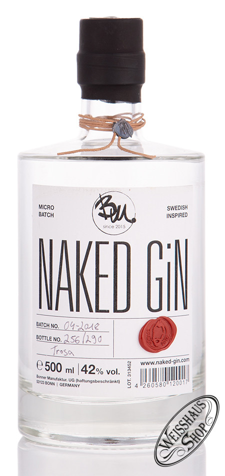 Bonner Manufaktur UG Naked Dry Gin 42% vol. 0,50l