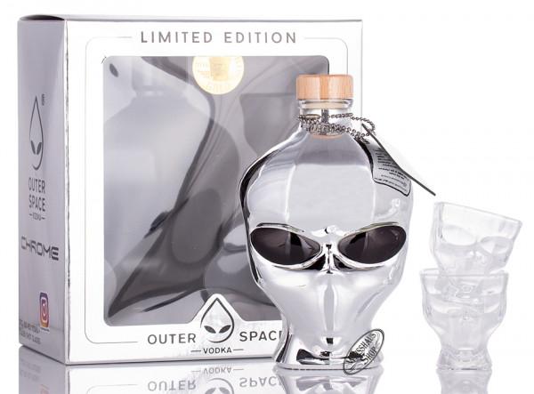 Outer Space Vodka Chrome Edition Geschenk-Set 40% vol. 0,70l