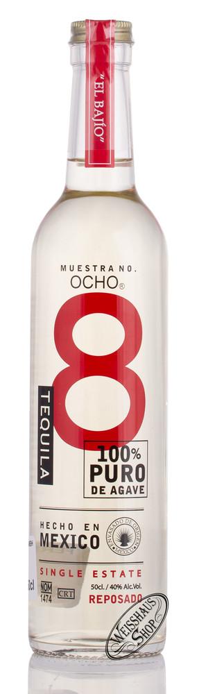 Tequila Ocho OCHO El Bajio Reposado Tequila 40% vol. 0,50l