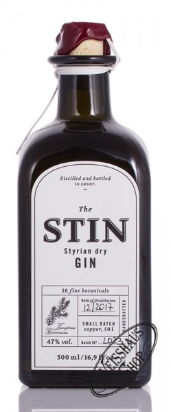 The STIN Styrian Dry Gin 47% vol. 0,50l
