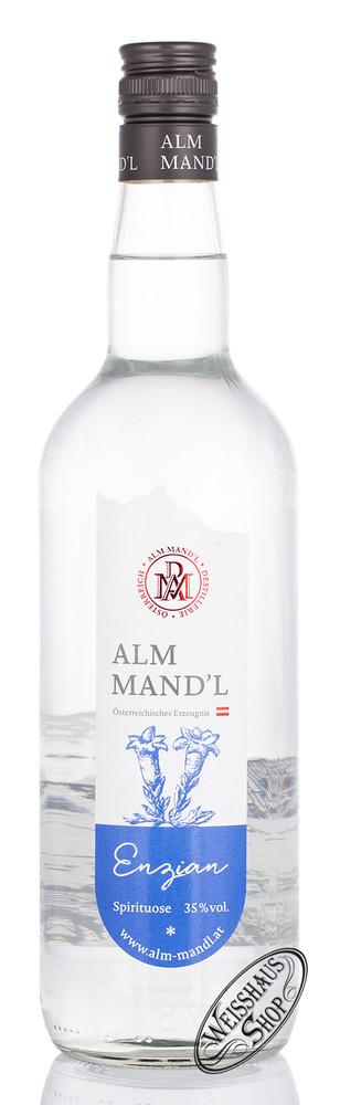 Alm Mand'l Enzian Schnaps 35% vol. 1,0l