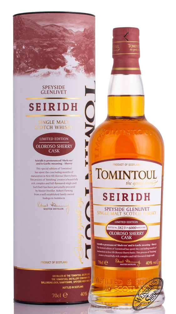 Tomintoul Seiridh Whisky 40% vol. 0,70l