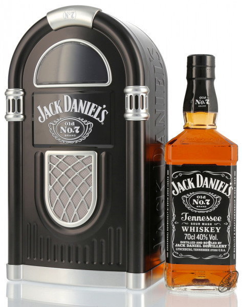 Jack Daniel's Old No. 7 Whiskey Juke Box Geschenk-Set 40% vol. 0,70l