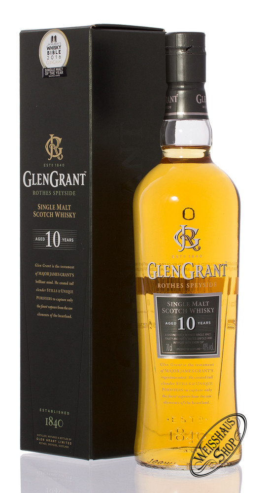 Glen Grant 10 YO Whisky 40% vol. 0,70l