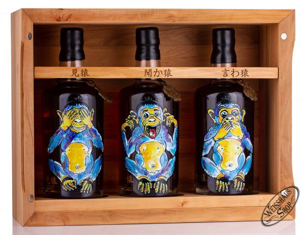 Karuizawa 1999-2000 Wise Monkeys Whisky Set 60,8% vol. 2,10l