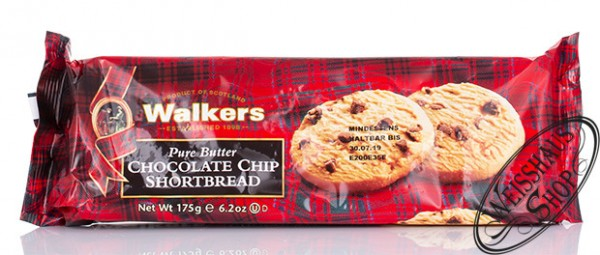 Walkers Chocolate Chip Shortbread Softpack 175g