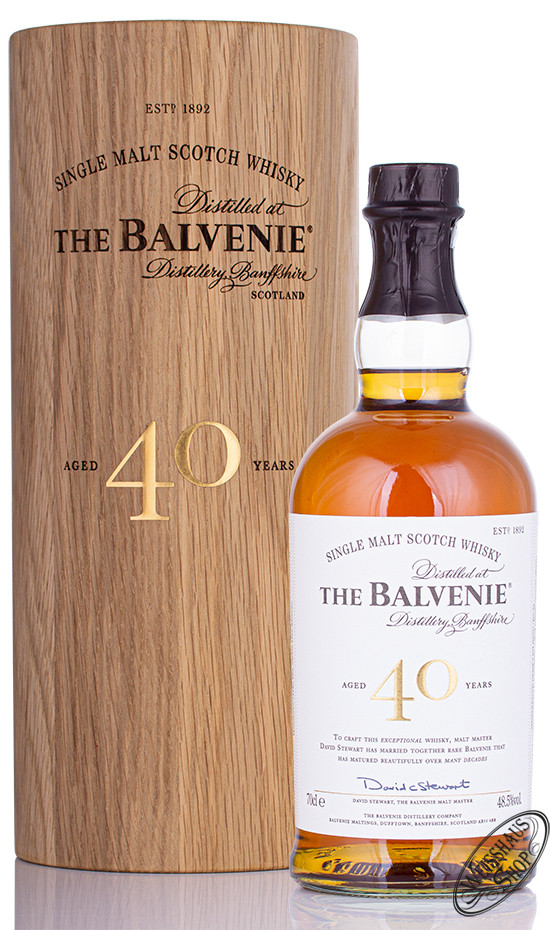 The Balvenie 40 YO Whisky 48,5% vol. 0,70l