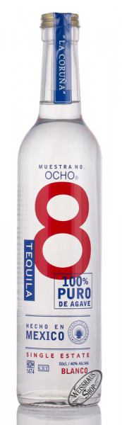 OCHO La Coruna Blanco Tequila 40% vol. 0,50l