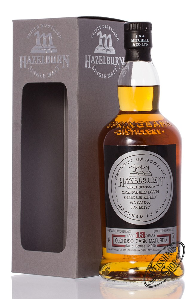 Springbank Hazelburn 13 YO Sherry Wood Cask Whisky 47,1% vol. 0,70l