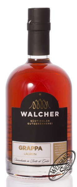 Walcher Grappa Lagrein Invecchiata Maulbeerbaumfass 40% vol. 0,50l