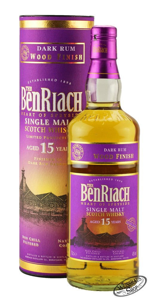 BenRiach 15 YO Dark Rum Finish Whisky 46% vol. 0,70l