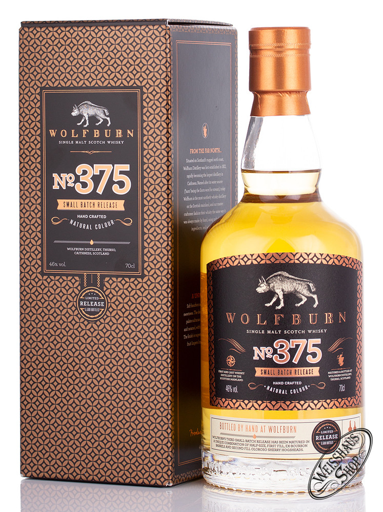 Wolfburn Batch 375 Whisky 46% vol. 0,70l