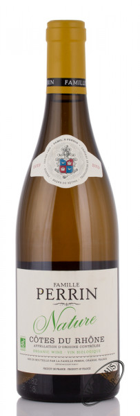 Famille Perrin Côtes du Rhône Blanc Nature 2019 12,5% vol. 0,75l