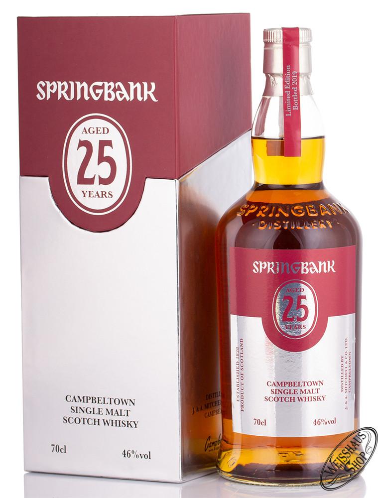 Springbank 25 YO Single Malt Whisky 46% vol. 0,70l