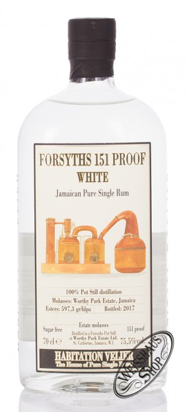 Habitation Velier Forsyths WP 151 Proof Rum 75,5% vol. 0,70l