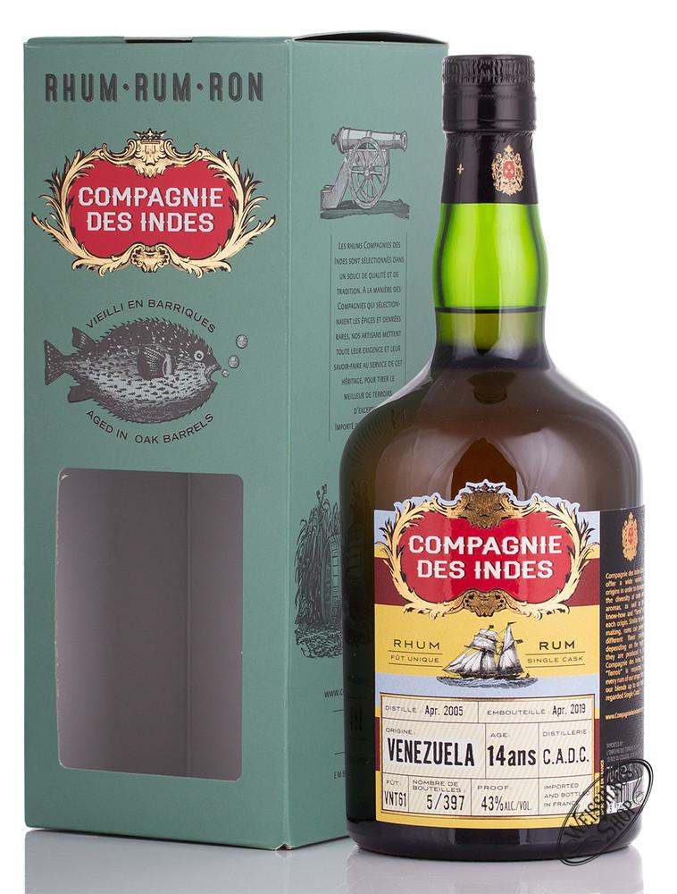 Compagnie des Indes Venezuela 14 YO Rum 43% vol. 0,70l