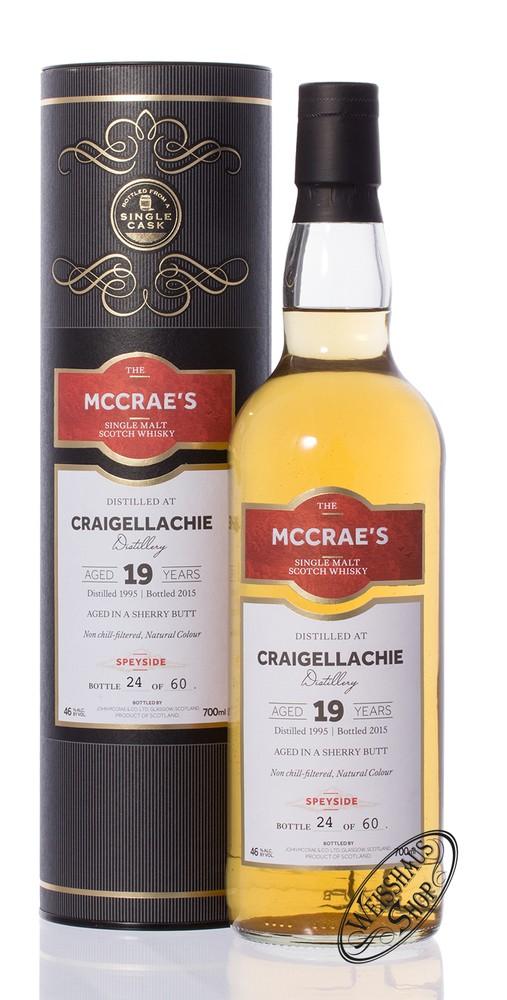 Craigellachie Vintage 1995 McCrae's 19 YO Whisky 46% vol. 0,70l