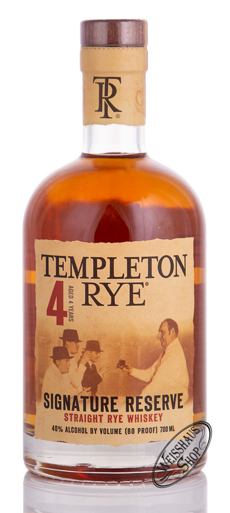 Distillery Templeton Templeton 4 YO Rye Whiskey 40% vol. 0,70l
