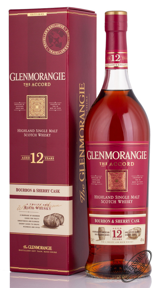 Glenmorangie 12 YO Accord Whisky 43% vol. 1,0l