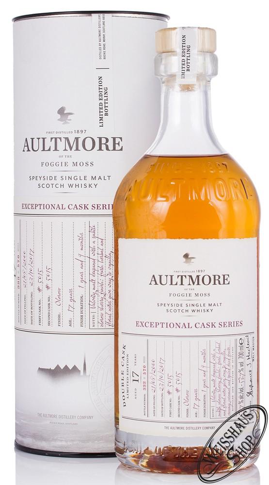 Aultmore 17 YO Double Cask Whisky 53,7% vol. 0,70l