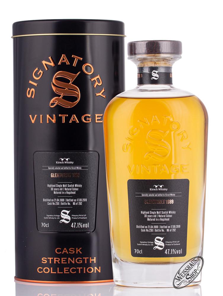 Glenturret Vintage 1989 Signatory Whisky 47,1% vol. 0,70l