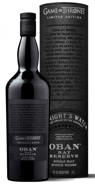 Oban Bay Reserve Game of Thrones Edition Whisky 43% vol. 0,70l