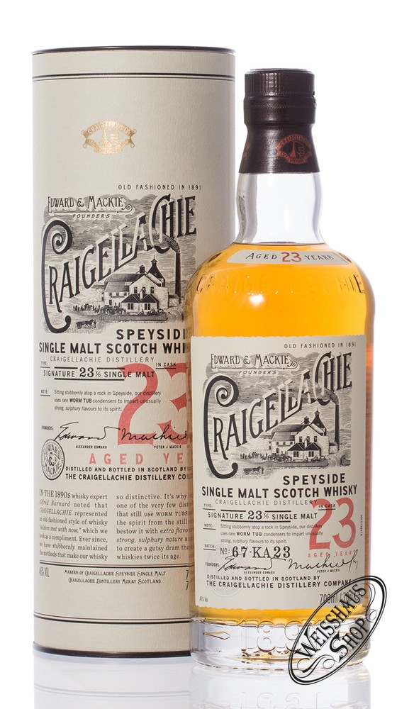 Craigellachie 23 YO Single Malt Whisky 46% vol. 0,70l