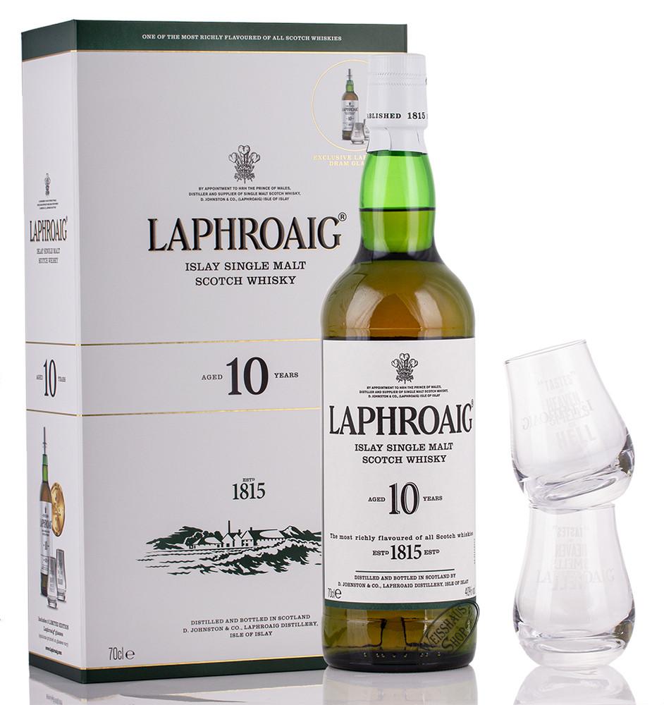 Laphroaig 10 YO Whisky Geschenk-Set 40% vol. 0,70l