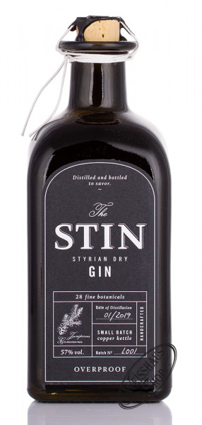 The STIN Styrian Overproof Gin 57% vol. 0,50l