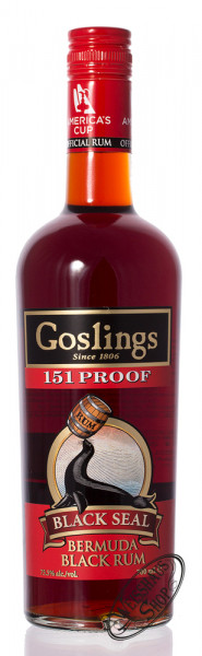 Gosling Black Seal 151 Proof Rum 75,5% vol. 0,70l