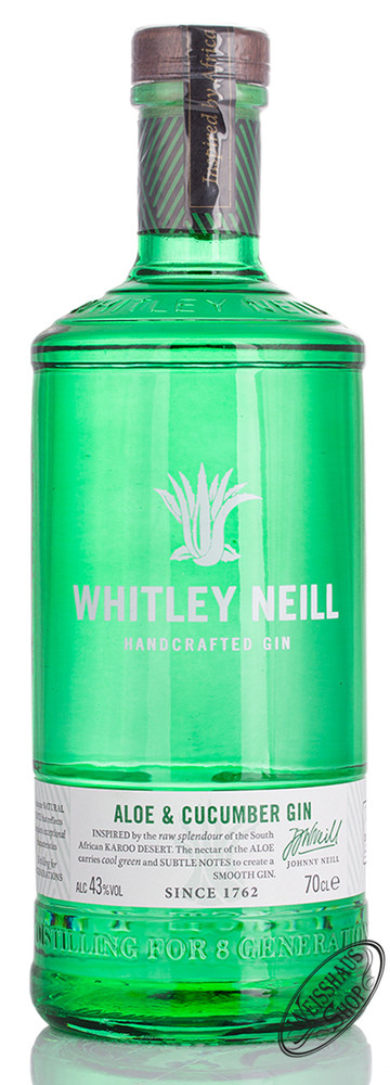Whitley Neill Aloe & Cucumber Gin 43% vol. 0,70l