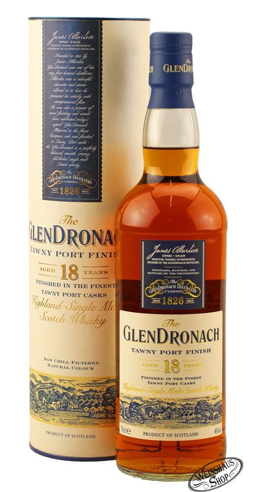 Glendronach 18 YO Tawny Port Finish Whisky 46% vol. 0,70l