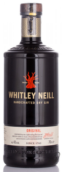 Whitley Neill Handcrafted Dry Gin 43% vol. 0,70l