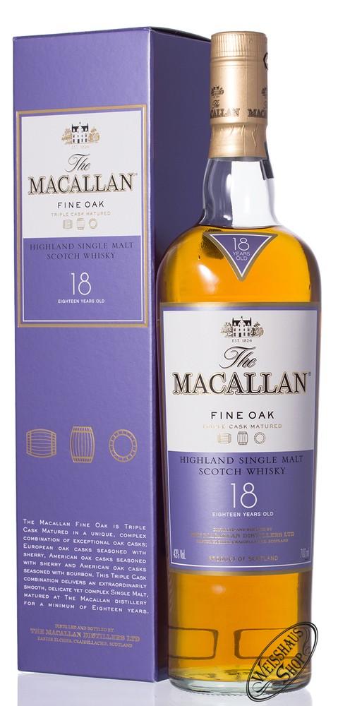 Macallan 18 YO Fine Oak Whisky 43% vol. 0,70l