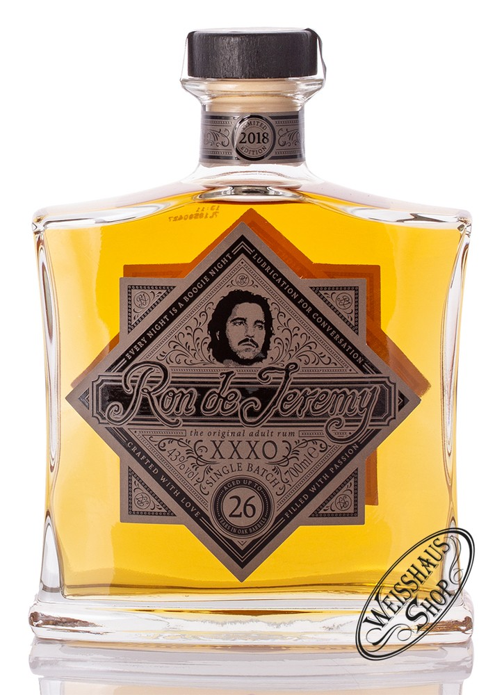 Ron de Jeremy XXXO Solera 26 YO Rum 43% vol. 0,70l
