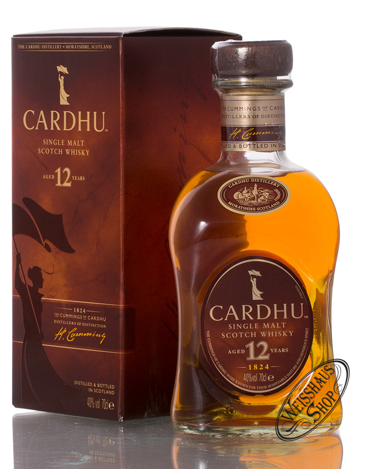 Cardhu 12 YO Whisky 40% vol. 0,70l
