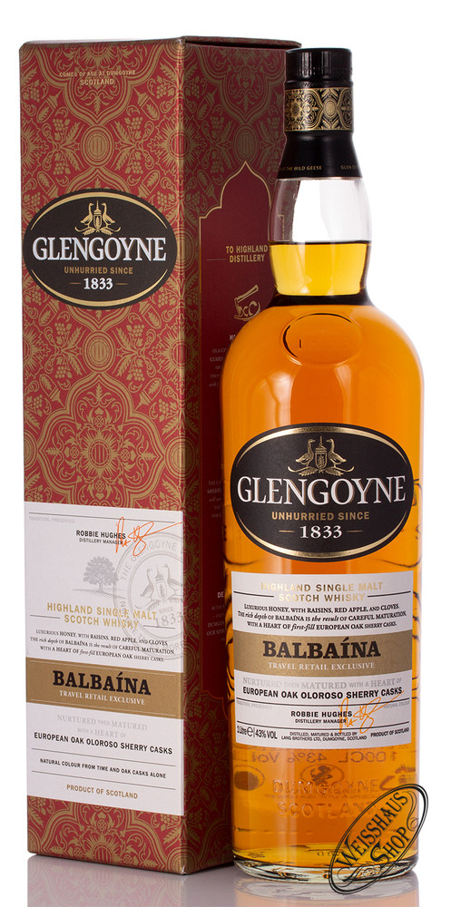 Glengoyne Balbaina Single Malt Whisky 43% vol. 1,0l