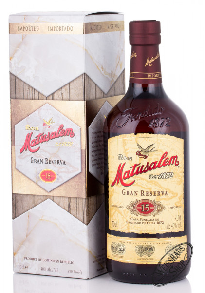 Ron Matusalem Gran Reserva Solera 15 Rum 40% vol. 0,70l