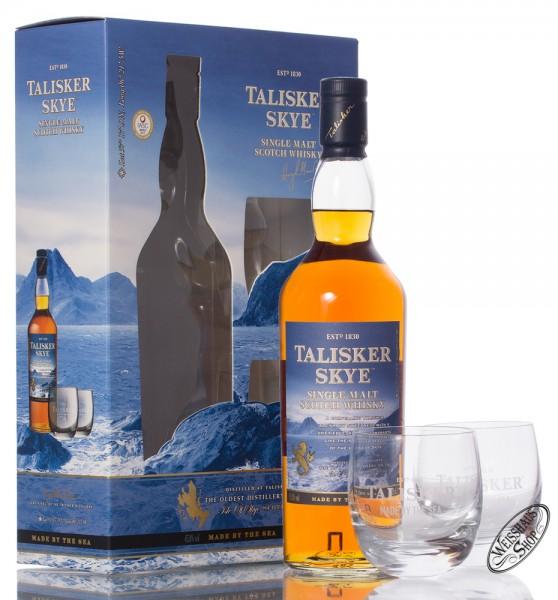 Talisker Skye Whisky GEPA mit 2 Rocking Gläsern 45,8% vol. 0,70l
